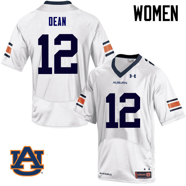 Women Auburn Tigers #12 Jamel Dean College Football Jerseys Sale-White